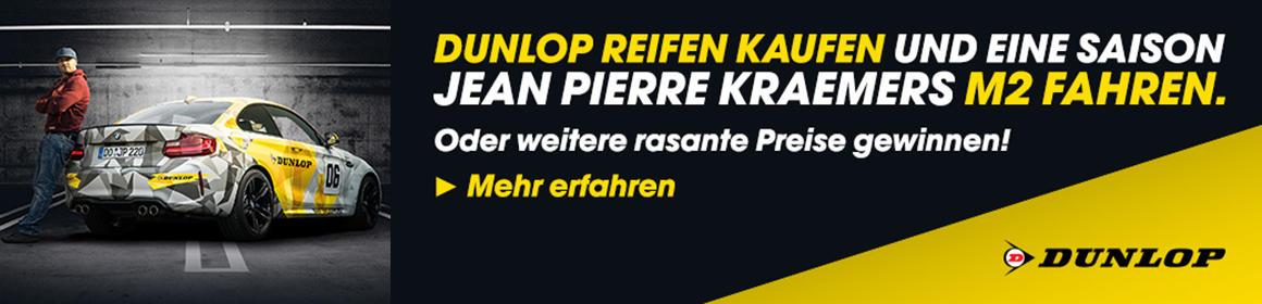 Dunlop Reifen kaufen und eine Saison JP Kraemers Karre fahren