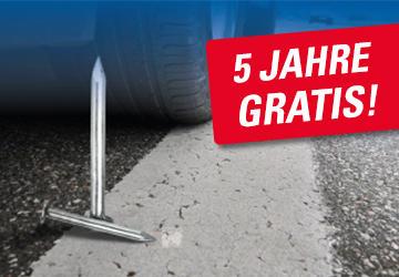 5 Jahre gratis Reifenzusatzgarantie