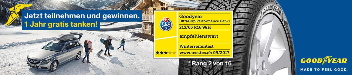 Goodyear verlost 1 Jahr gratis tanken!